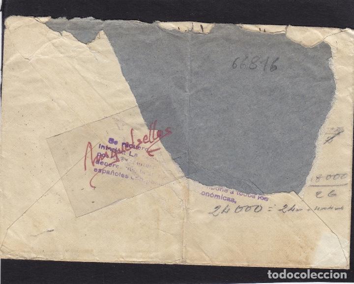 Sellos: CENSURA MILITAR BILBAO ( Vizcaya) año 1939 SOBRE con NOTA CENSURA DORSO franqueo ISABEL - Foto 2 - 105950571