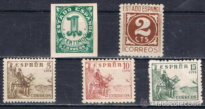 AÑO 1940 (914-918) CIFRAS Y CID (NUEVO) (Sellos - España - Estado Español - De 1.936 a 1.949 - Nuevos)