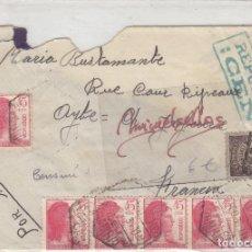Sellos: CENSURA REPÚBLICA ESPAÑOLA AÑO 1938 CARTA CORREO AÉREO BARCELONA DESTINO FRANCIA CON LLEGADA. Lote 152026628