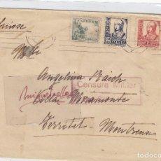 Sellos: CENSURA SAN SEBASTIÁN ( GUIPUZCOA) AÑO 1937 CARTA DESTINO SUIZA SIN LLEGADA . Lote 106652783