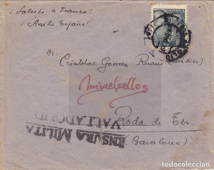 CENSURA VALLADOLID AÑO 1939 CARTA (Sellos - España - Estado Español - De 1.936 a 1.949 - Cartas)