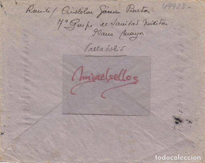 Sellos: CENSURA VALLADOLID año 1939 CARTA - Foto 2 - 106776903