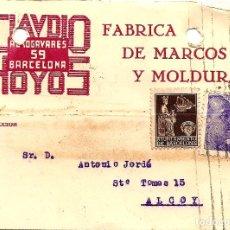 Sellos: TARJETA CIRCULADA CLAUDIO HOYOS DE BARCELONA A ALCOY (ALICANTE) - SELLO AYUNT. BARCELONA AÑO 1940. Lote 107007903
