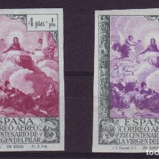 Briefmarken - AÑO 1940. EDIFIL 912 SIN DENTAR + 912ccs**MNH. ERROR COLOR. MUY RAROS - 107833159