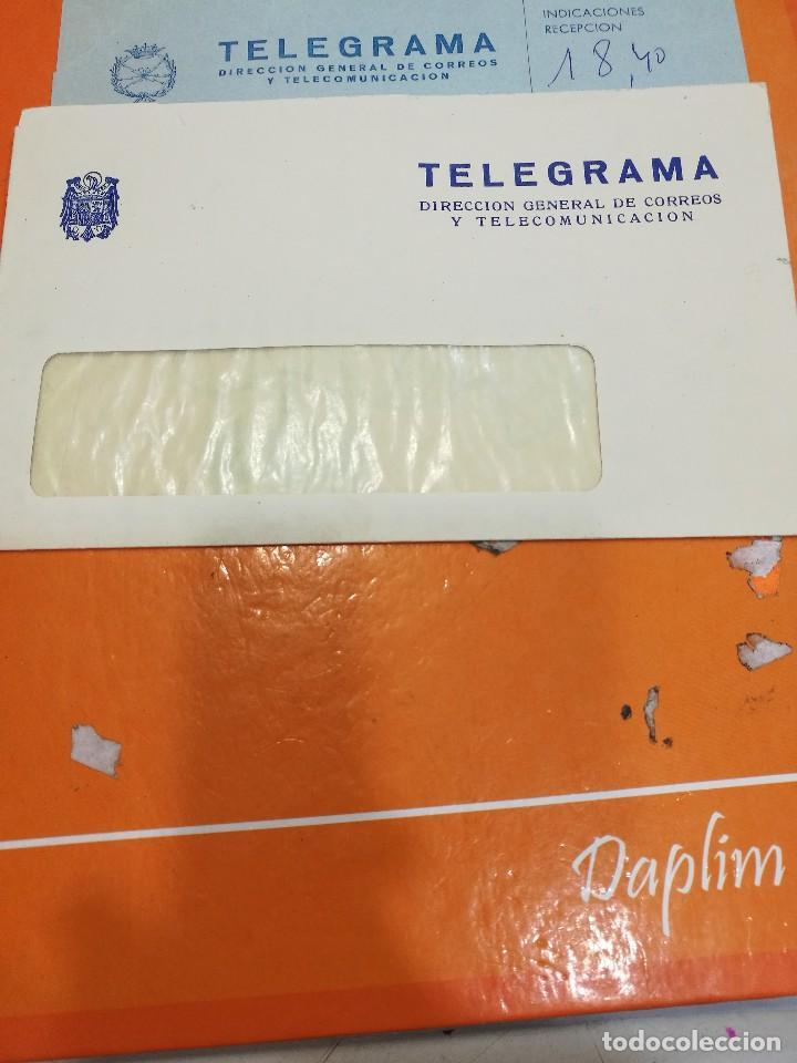 SOBRE DE TELEGRAMA EPOCA FRANCO (Sellos - España - Estado Español - De 1.936 a 1.949 - Cartas)