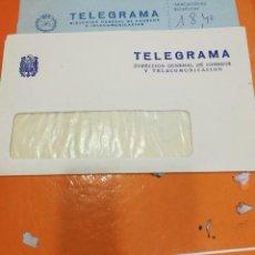 Sellos: SOBRE DE TELEGRAMA EPOCA FRANCO. Lote 108394311