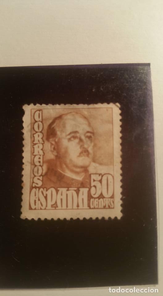 ESPAÑA 1948, GENERAL FRANCO, 50 CENTIMOS . LO TENEMOS CON Y SIN CHARNELA (Sellos - España - Estado Español - De 1.936 a 1.949 - Usados)