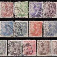 Sellos: ESPAÑA , 1940 - 1945 EDIFIL Nº 919 / 935 GENERAL FRANCO , DENTADO 9 ½. Lote 109089719