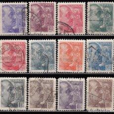 Sellos: ESPAÑA , 1939 EDIFIL Nº 867 / 878 GENERAL FRANCO , GRABADOR SÁNCHEZ TODA . Lote 109093143