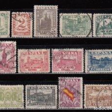 Sellos: ESPAÑA , 1936 - 1937 EDIFIL Nº 802 / 813 , 808A , JUNTA DE DEFENSA NACIONAL . Lote 109095955