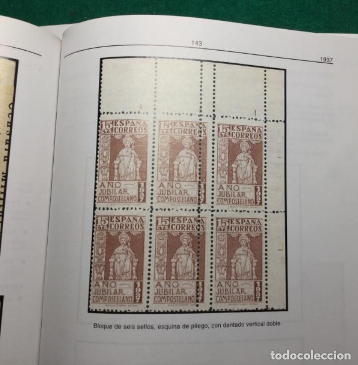 Sellos: Nº 833 AÑO JUBILAR COMPOSTELANO. SELLO MUY RARO USADO Y PROCEDENTE DE HOJA CON DOBLE PERFORACIÓN. - Foto 2 - 110144163