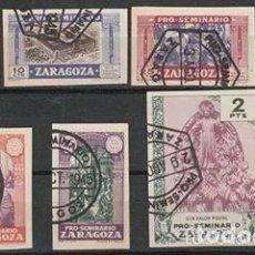 Sellos: ZARAGOZA. PRO SEMINARIO . 1944 (18-08) VIÑETAS S/D .... Lote 110235735