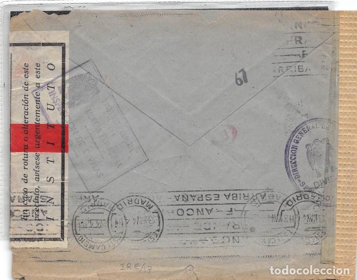 Sellos: Nº 925 x2. CARTA DE MADRID A ALEMANIA. VARIAS MARCAS DE CARTEROS Y CENSURA ALEMANA Y ESPAÑOLA. TAMPÓ - Foto 2 - 110323403