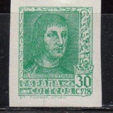 Sellos: ESPAÑA , 1938 EDIFIL Nº 843 AECB / ** / , CAMBIO DE COLOR , VERDE AMARILLENTO . Lote 111416231