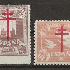 Sellos: R26/ EDIFIL 957/60, MH*, 1942, PRO TUBERCULOSOS. Lote 111469663