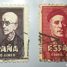 Sellos: ESPAÑA SPAIN 1947 EDIFIL 1015-1016 FALLA Y ZULOAGA. Lote 111598562