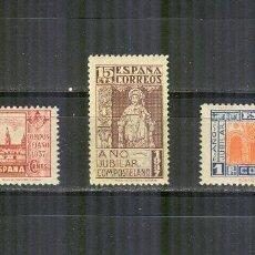 Sellos: EDIFIL 833/35 AÑO JUBILAR COMPOSTELANO NUEVOS SIN CHARNELA BUEN CENTRADO. Lote 112442219