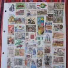 Sellos: FILATELIA - HOJA DOS CARAS / 130 SELLOS - ESPAÑA.. Lote 113421959