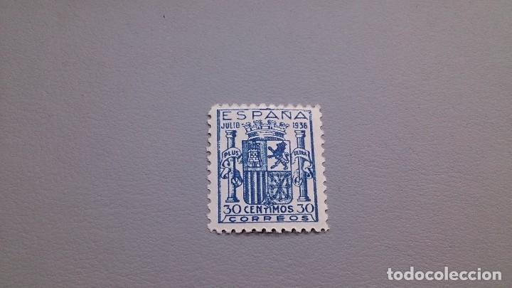 1936 - ESTADO ESPAÑOL - EDIFIL 801 -F - MNH** - NUEVO - CENTRADO -ESCUDO DE ESPAÑA (EMISION GRANADA) (Sellos - España - Estado Español - De 1.936 a 1.949 - Nuevos)