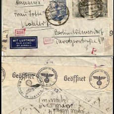 Sellos: CARTA 1941 BARCELONA-BERLIN DOBLE CENSURA. Lote 115295935