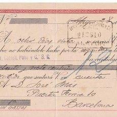 Sellos: AP5-FISCALES LETRA 1943 CALZADOS. ALAYOR. INTERESANTE FRANQUEO COMPLEMENTARIO . Lote 115330399