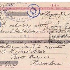 Sellos: AP5-FISCALES LETRA 1944 CALZADOS. ALAYOR. INTERESANTE FRANQUEO COMPLEMENTARIO . Lote 115330511