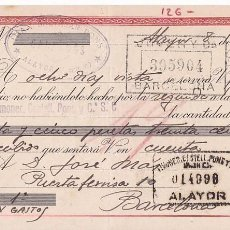 Sellos: AP5-FISCALES LETRA 1944 CALZADOS. ALAYOR. INTERESANTE FRANQUEO COMPLEMENTARIO . Lote 115330587