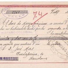 Sellos: AP5-FISCALES LETRA 1943 VALLS . INTERESANTE FRANQUEO COMPLEMENTARIO . Lote 115330863