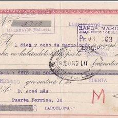 Sellos: AP5-POSTALES FISCALES FRANCO LETRA 1943 LUCHMAYOR. INTERESANTE FRANQUEO COMPLEMENTARIO . Lote 115332183