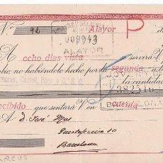 Sellos: AP5-POSTALES FISCALES CID LETRA 1943 ALAYOR. INTERESANTE FRANQUEO COMPLEMENTARIO . Lote 115332399