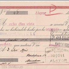 Sellos: AP5-POSTALES FISCALES CID LETRA 1943 ALAYOR. INTERESANTE FRANQUEO COMPLEMENTARIO . Lote 115332503