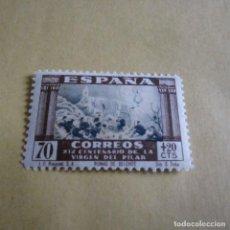 Sellos: ESPAÑA 1940, EDIFIL Nº 895, XIX CENTENARIO DE LA VENIDA DE LA VIRGEN DEL PILAR A ZARAGOZA,SIN GOMA. Lote 115343195