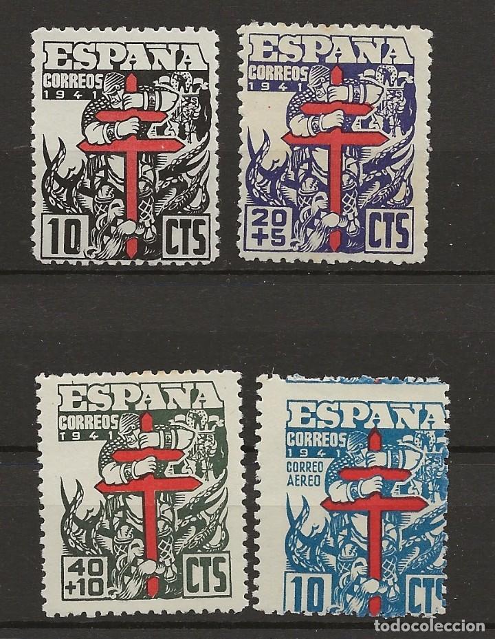 R35.G20/ EDIFIL 948/51, MH*, 1941, PRO TUBERCULOSOS (Sellos - España - Estado Español - De 1.936 a 1.949 - Nuevos)