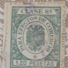 Sellos: TIMBRE CLASE 8 PARA EFECTOS DE COMERCIO. Lote 116940127