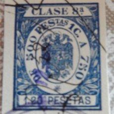 Sellos: SELLO/TIMBRE. FISCAL DE CLASE 8. 1,20 PTAS.. Lote 116941871