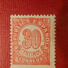 Sellos: SELLO - ESPAÑA - CORREOS - CIFRAS - REPÚBLICA ESPAÑOLA 1938 - EDIFIL 750 - 30 CÉNTIMOS -. Lote 117486327