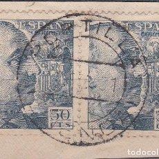 Sellos: CUENCA.- SELLO DE FRANCO CON MATASELLOS FECHADOR PORTILLA. Lote 118020331