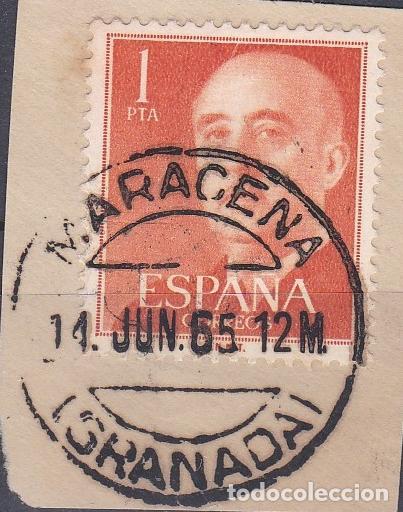 GRANADA.- SELLO DE FRANCO CON MATASELLOS FECHADOR MARACENA (Sellos - España - Estado Español - De 1.936 a 1.949 - Usados)