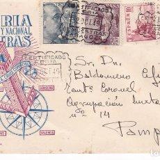 Sellos: F21-13A- CARTA CERTIFICADO FERIA MUESTRAS ZARAGOZA-PAMPLONA 1949 CON 1048A EN CARTA. Lote 118092891