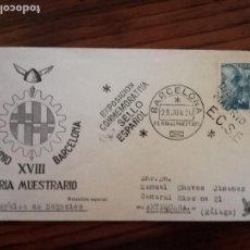 Sellos: 1950-XVIII EXPOSICION CONMEMORATIVA DIA DEL SELLO ESPAÑOL.BARCELONA.. Lote 118393687