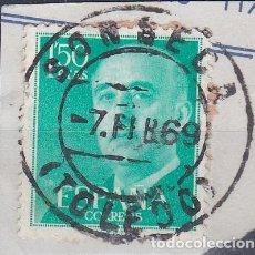 Sellos: TOLEDO.- SELLO DE FRANCO MATASELLO FECHADOR SONSECA. Lote 118567147