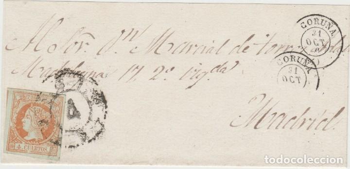 LOTE A ENVUELYA MATASELLOS 1860 CORUÑA-MADRID (Sellos - España - Estado Español - De 1.936 a 1.949 - Cartas)