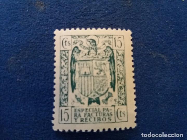 SELLO 15 CENTIMOS ESPECIAL FACTURAS Y RECIBOS ESCUDO AGUILA ESPAÑA (Sellos - España - Estado Español - De 1.936 a 1.949 - Usados)