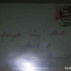Sellos: MADRID. FRANCO PERFIL 30CTS EL CID 10CTS. 1943. SOBRE.. Lote 119475791