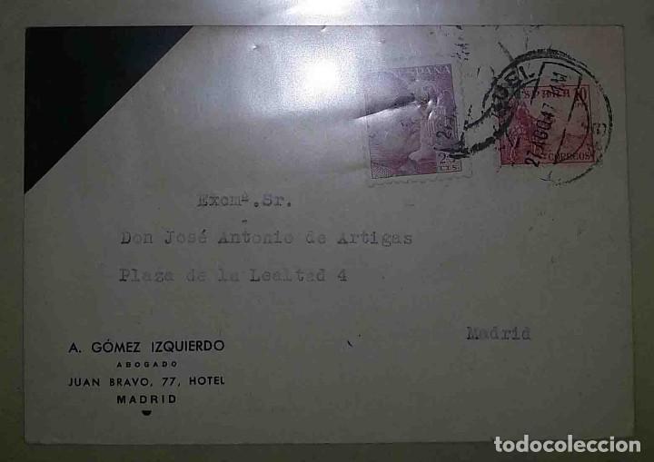 TERUEL. MADRID. A. GÓMEZ IZQUIERDO. FRANCO PERFIL 25CTS. EL CID 10CTS. 1947. (Sellos - España - Estado Español - De 1.936 a 1.949 - Usados)