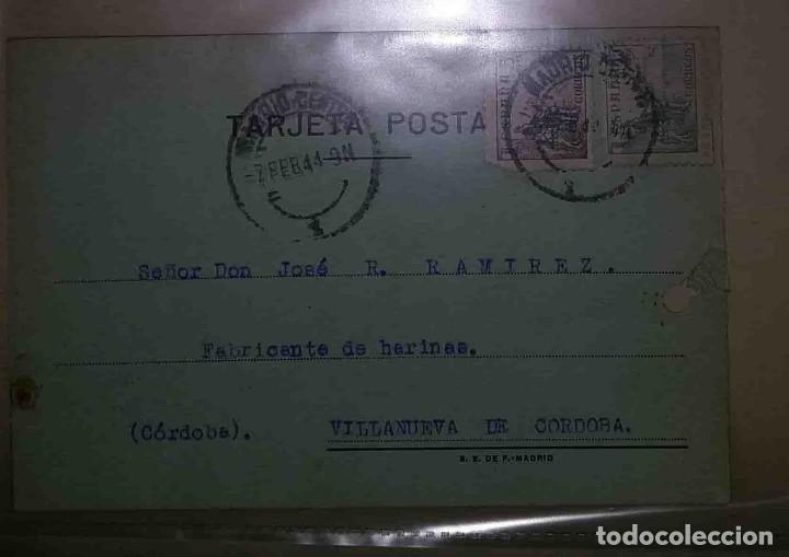 VILLANUEVA DE CÓRDOBA. MADRID. EL CID. 5CTS. 15CTS. 1944. FABRICARTE DE HARINA. (Sellos - España - Estado Español - De 1.936 a 1.949 - Usados)