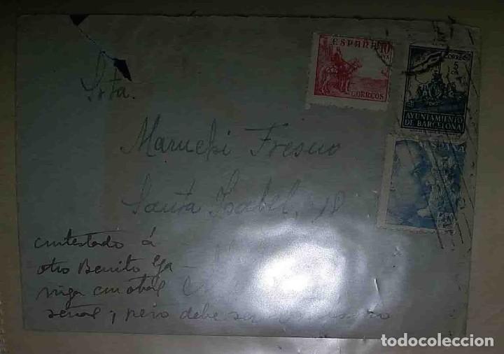 BARCELONA. MADRID. EL CID 10CTS. AYUN. DE BARCELONA. 5CTS. FRANCO PERFIL.1941. (Sellos - España - Estado Español - De 1.936 a 1.949 - Usados)