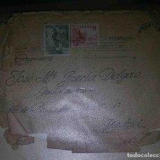 Sellos: SOBRE Y CARTA. BURGOS. MADRID. EL CID 10CTS. FRANCO PERFIL 40CTS. 1946.. Lote 119620123