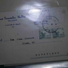 Sellos: CAZORLA, JAEN. BARCELONA. EL CID. 5CTS. 15CTS.1947.. Lote 119620739