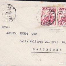 Sellos: F23-67- CARTA ARANJUEZ (MADRID)-BARCELONA 1948.PAREJA ALMIRANTE BONIFAZ. Lote 119908595